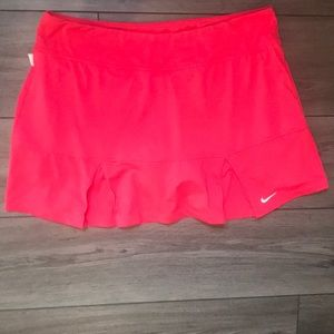 Pink Nike Dri-Fit tennis skirt w/ built in shorts